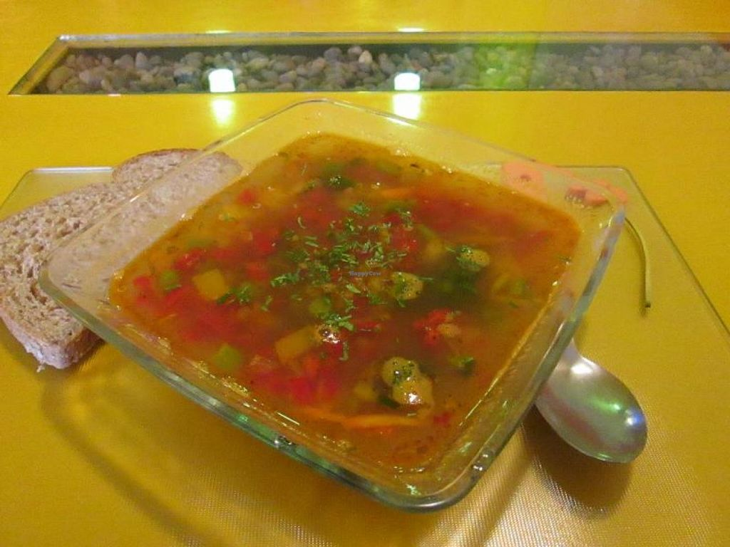 """Photo of Tierra Sana  by <a href=""""/members/profile/choogirl"""">choogirl</a> <br/>Vegan soup <br/> January 14, 2014  - <a href='/contact/abuse/image/32160/62510'>Report</a>"""