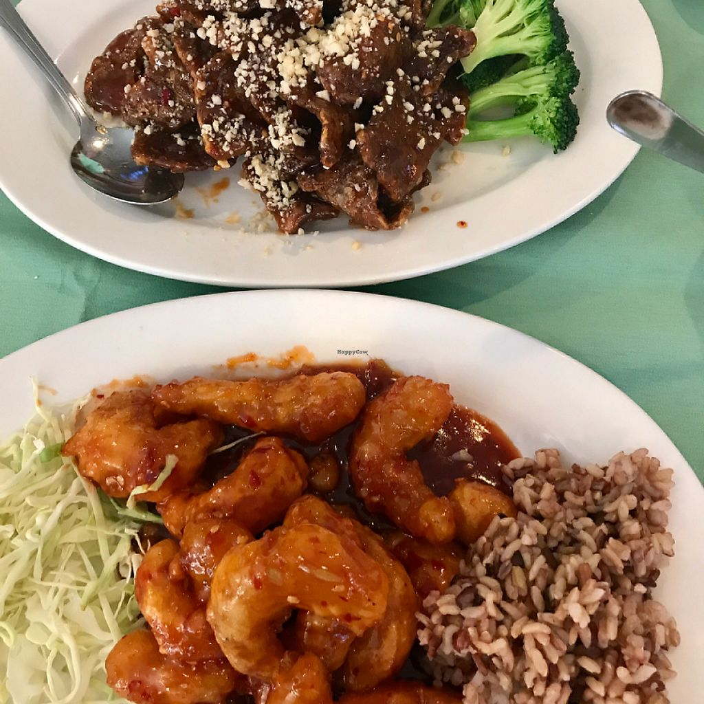 "Photo of Veggie House  by <a href=""/members/profile/marickgang"">marickgang</a> <br/>crispy hon hon ""shrimp"", crispy ""beef""... absolutely delicious! <br/> May 2, 2017  - <a href='/contact/abuse/image/32168/255044'>Report</a>"