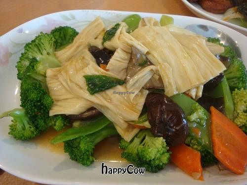 "Photo of Veggie House  by <a href=""/members/profile/Sonja%20and%20Dirk"">Sonja and Dirk</a> <br/>Happy Family - bean curd skin, broccoli, carrots and mushrooms <br/> August 20, 2012  - <a href='/contact/abuse/image/32168/36492'>Report</a>"