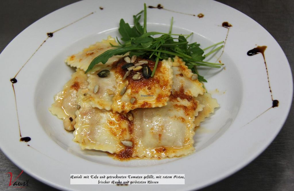 "Photo of Vaust Braugaststatte  by <a href=""/members/profile/WolfgangGrabolle"">WolfgangGrabolle</a> <br/>Ravioli with tofu and dried tomatoes filled,