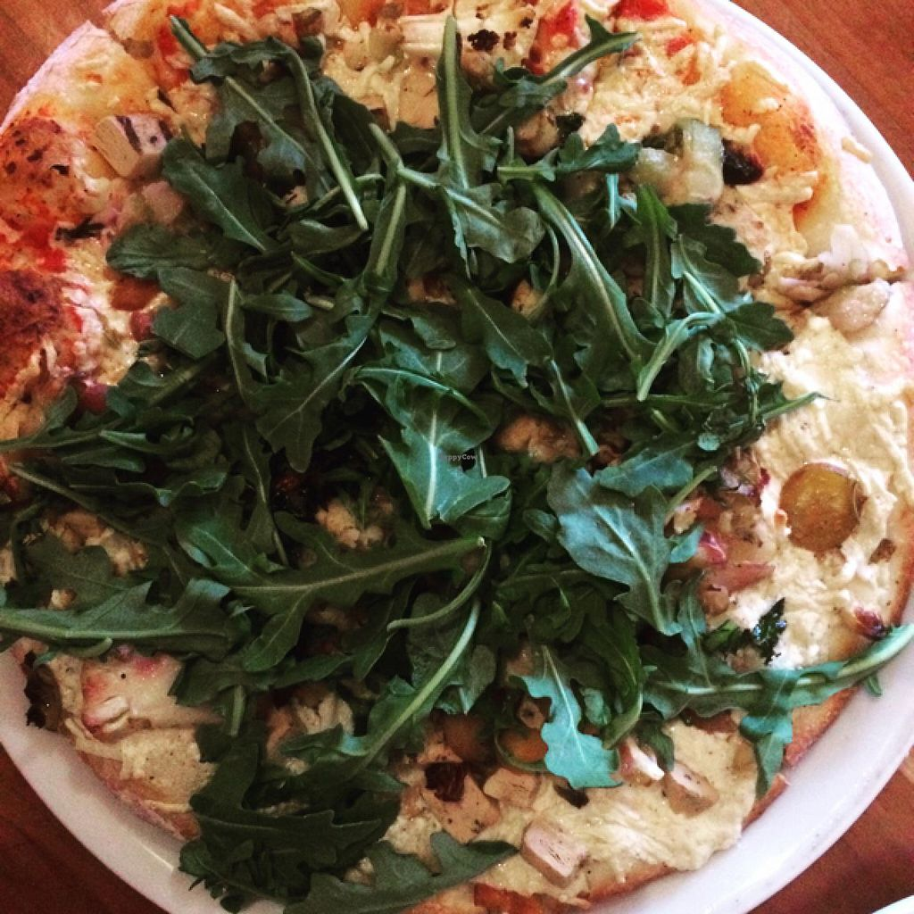 "Photo of Picazzo's Organic Italian Kitchen  by <a href=""/members/profile/AmeliaC"">AmeliaC</a> <br/>the Vegan Pizza, half Alfredo half marinara <br/> June 11, 2015  - <a href='/contact/abuse/image/32230/105415'>Report</a>"