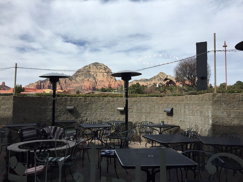 """Photo of Picazzo's Organic Italian Kitchen  by <a href=""""/members/profile/NickiPT"""">NickiPT</a> <br/>There's a patio with a lovely view <br/> March 9, 2018  - <a href='/contact/abuse/image/32230/368491'>Report</a>"""