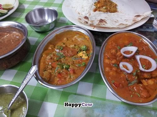 """Photo of CLOSED: Lucky  by <a href=""""/members/profile/dinotori"""">dinotori</a> <br/>Dal on the far left with mixed veg and chana masala dishes <br/> November 23, 2013  - <a href='/contact/abuse/image/32240/58871'>Report</a>"""
