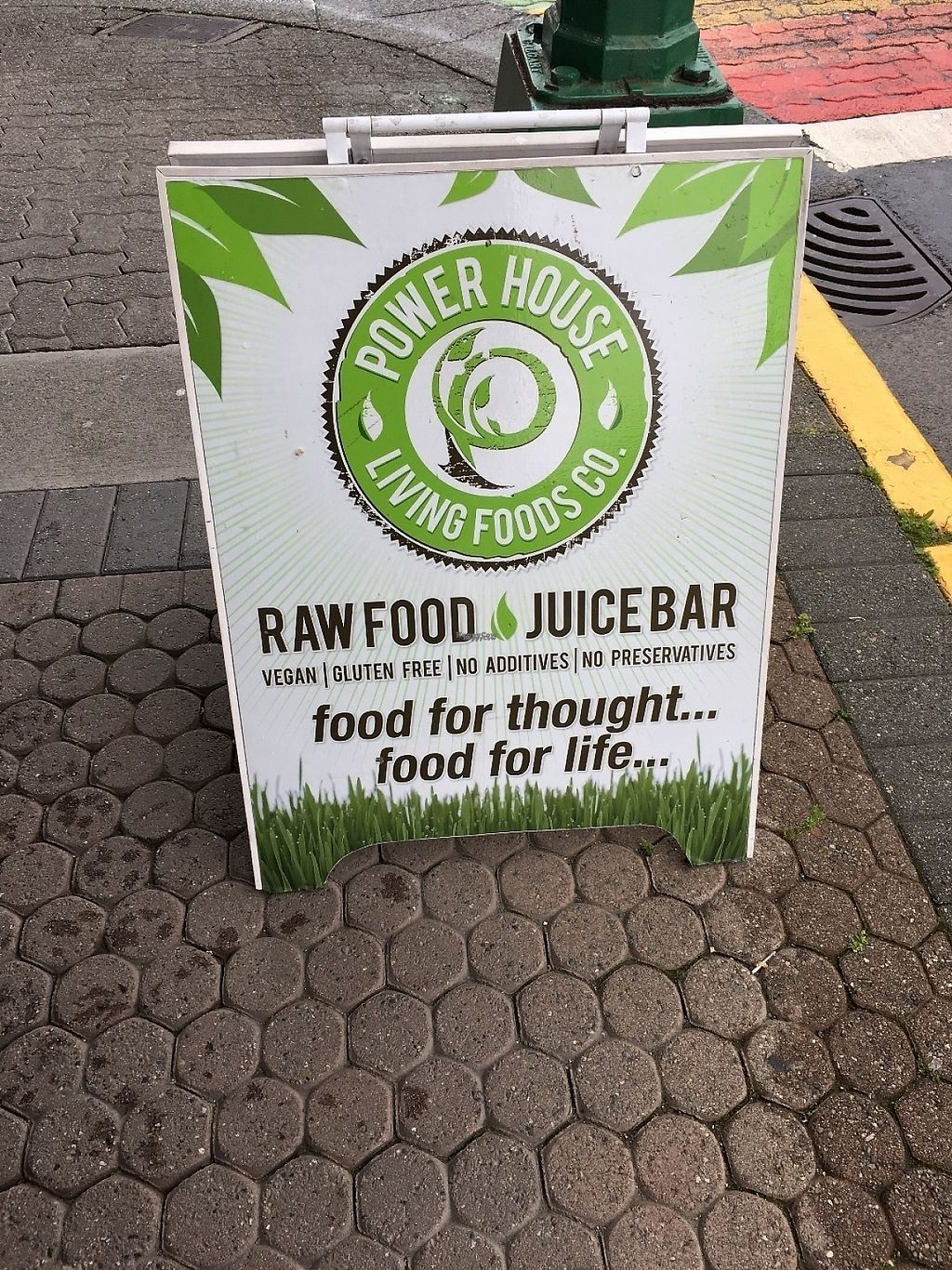 """Photo of Power House Living Foods  by <a href=""""/members/profile/vegan%20frog"""">vegan frog</a> <br/>Street sign <br/> April 23, 2017  - <a href='/contact/abuse/image/32271/251354'>Report</a>"""