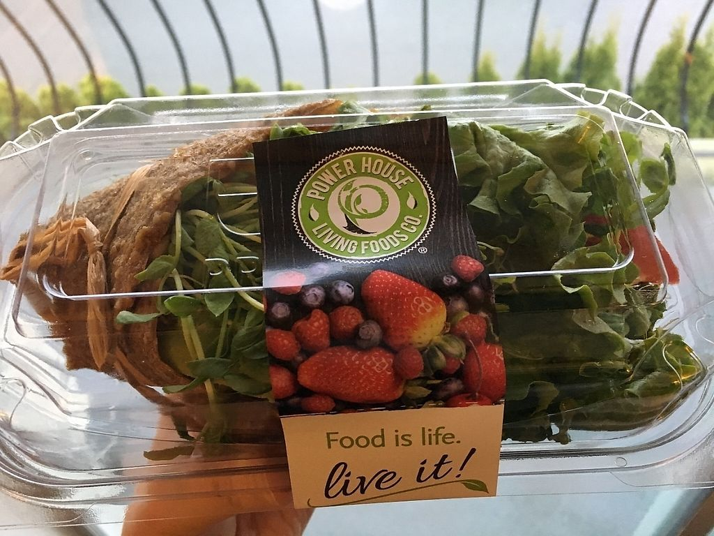 """Photo of Power House Living Foods  by <a href=""""/members/profile/vegan%20frog"""">vegan frog</a> <br/>Seeet onion veggie wrap <br/> April 23, 2017  - <a href='/contact/abuse/image/32271/251356'>Report</a>"""