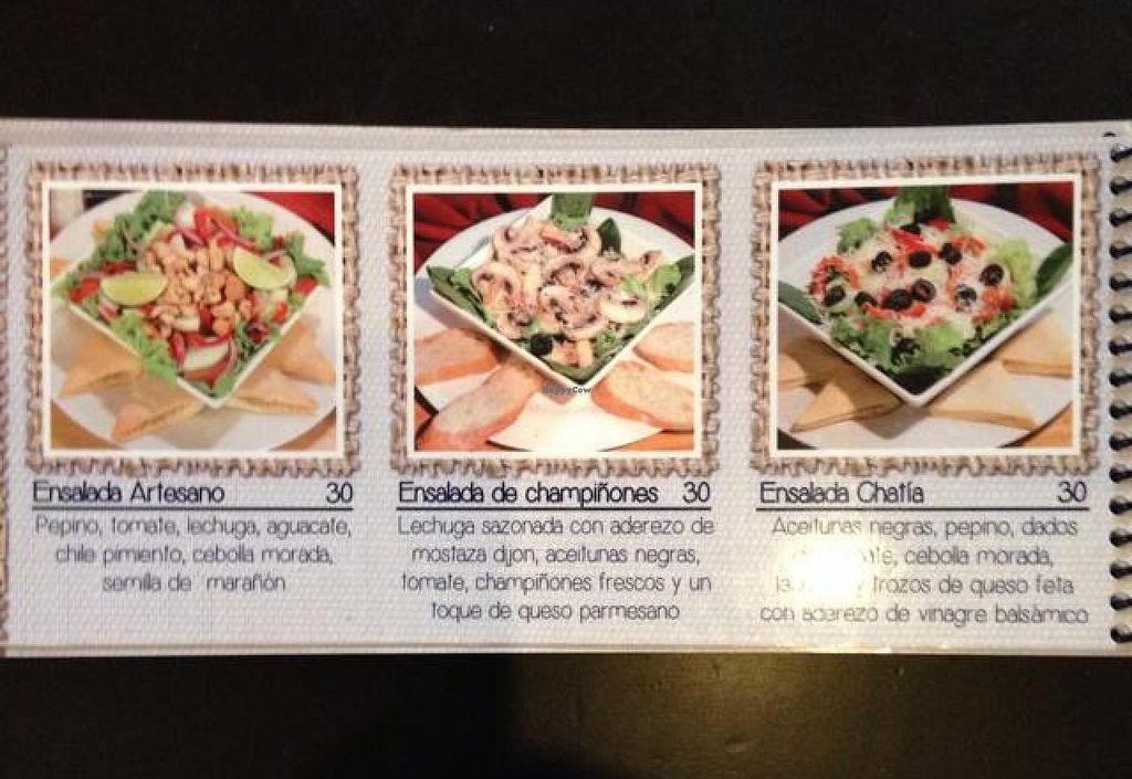 """Photo of La Chatia Artesana  by <a href=""""/members/profile/AliciaPiccolina"""">AliciaPiccolina</a> <br/>menu,p.15 <br/> July 29, 2014  - <a href='/contact/abuse/image/32299/75438'>Report</a>"""