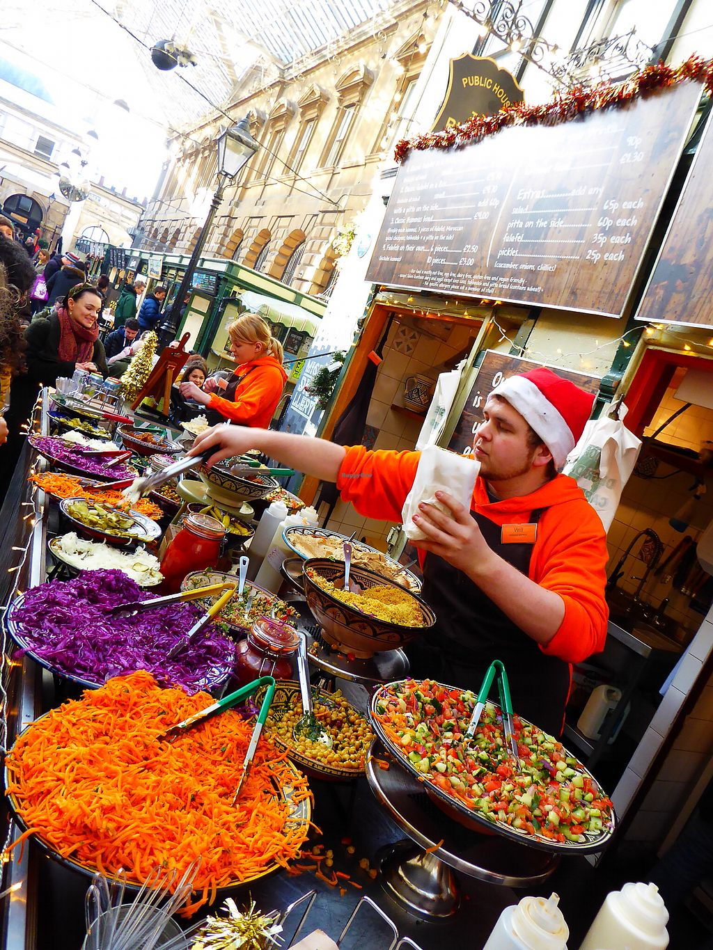 """Photo of Eat a Pitta - St Nicholas Market  by <a href=""""/members/profile/FranMcgarryArtist"""">FranMcgarryArtist</a> <br/>Wonderful Colourful Food <br/> January 22, 2018  - <a href='/contact/abuse/image/32313/349855'>Report</a>"""