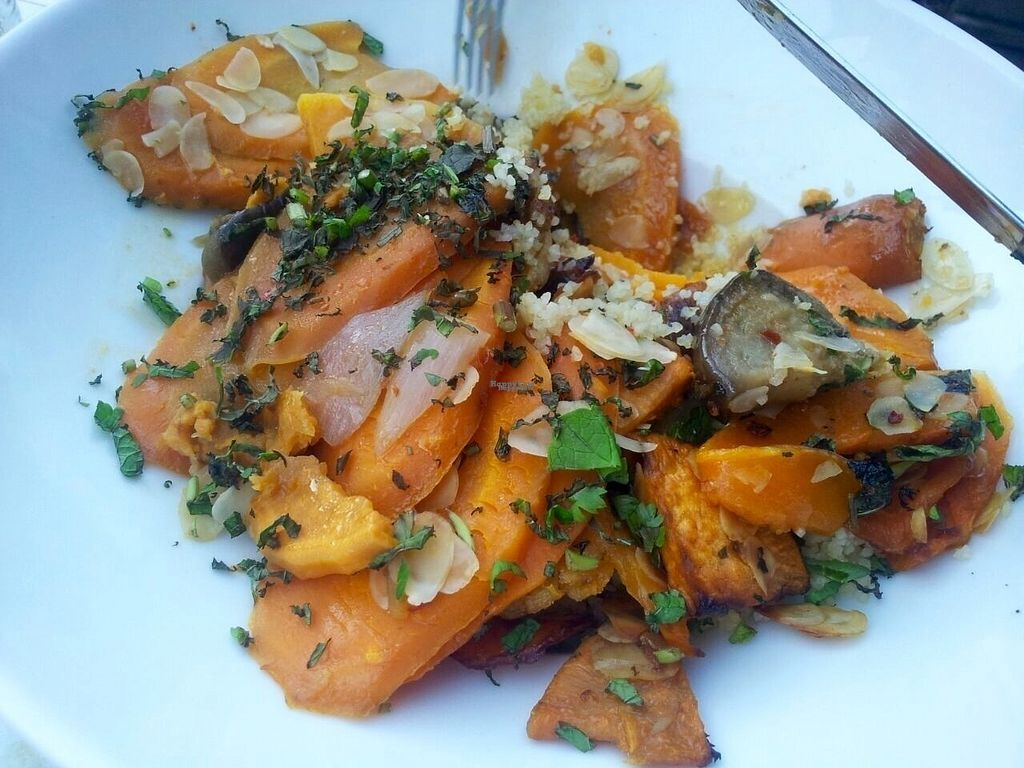 """Photo of Jetties  by <a href=""""/members/profile/happyowl"""">happyowl</a> <br/>Moroccan dish with couscous and veggies, without the feta <br/> August 20, 2016  - <a href='/contact/abuse/image/32320/170320'>Report</a>"""