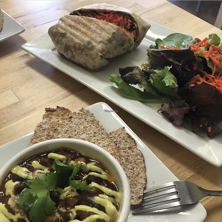 "Photo of My Organic Corner  by <a href=""/members/profile/Btstill"">Btstill</a> <br/>chili and falafel wrap <br/> August 11, 2017  - <a href='/contact/abuse/image/32323/291383'>Report</a>"