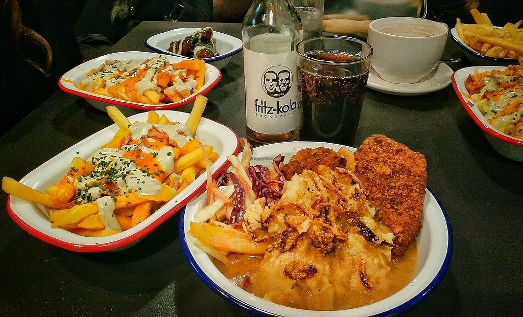 """Photo of V Rev Vegan Diner  by <a href=""""/members/profile/Daltero"""">Daltero</a> <br/>Two Piece Chkn Meal & Buffalo Loaded Fries  <br/> January 20, 2018  - <a href='/contact/abuse/image/32339/348662'>Report</a>"""