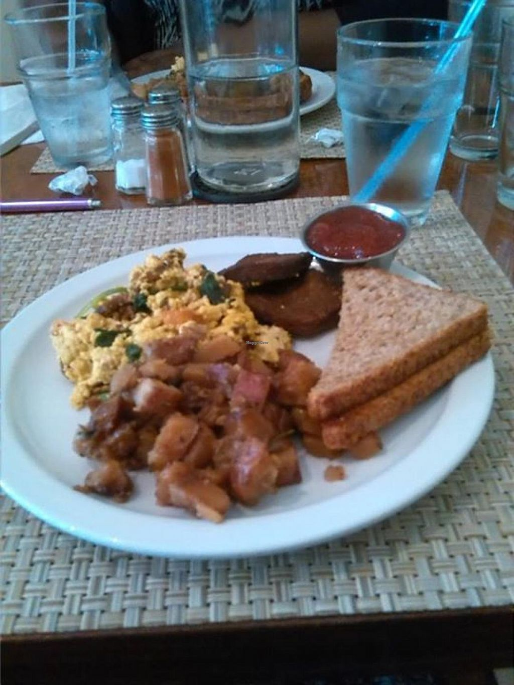 """Photo of Detroit Vegan Soul - East  by <a href=""""/members/profile/KimberlyAMunson"""">KimberlyAMunson</a> <br/>The Home-style Breakfast is one of the Sunday Brunch menu options. This was delicious <br/> May 27, 2015  - <a href='/contact/abuse/image/32342/103632'>Report</a>"""