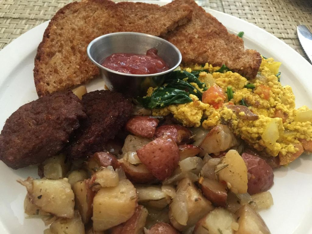 """Photo of Detroit Vegan Soul - East  by <a href=""""/members/profile/gwild"""">gwild</a> <br/>Sunday brunch <br/> July 26, 2015  - <a href='/contact/abuse/image/32342/111025'>Report</a>"""