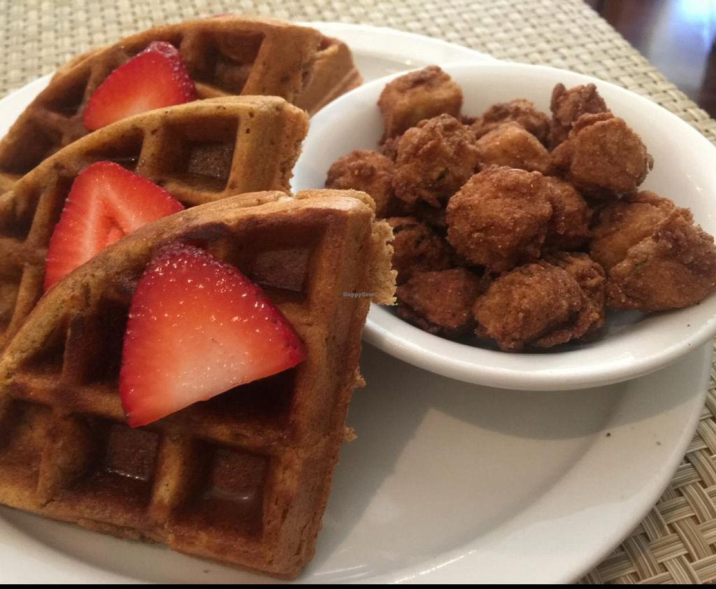 """Photo of Detroit Vegan Soul - East  by <a href=""""/members/profile/gwild"""">gwild</a> <br/>southern tofu and waffles <br/> July 26, 2015  - <a href='/contact/abuse/image/32342/111027'>Report</a>"""