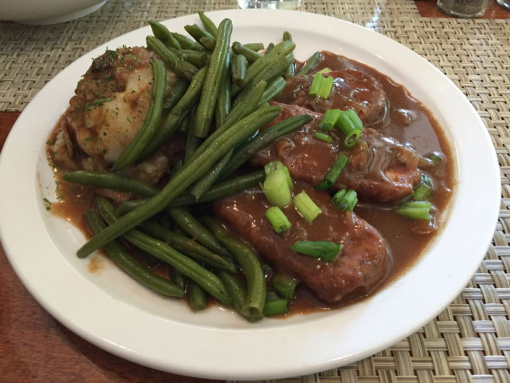 """Photo of Detroit Vegan Soul - East  by <a href=""""/members/profile/clovely.vegan"""">clovely.vegan</a> <br/>Smothered Tempeh <br/> July 20, 2016  - <a href='/contact/abuse/image/32342/161016'>Report</a>"""