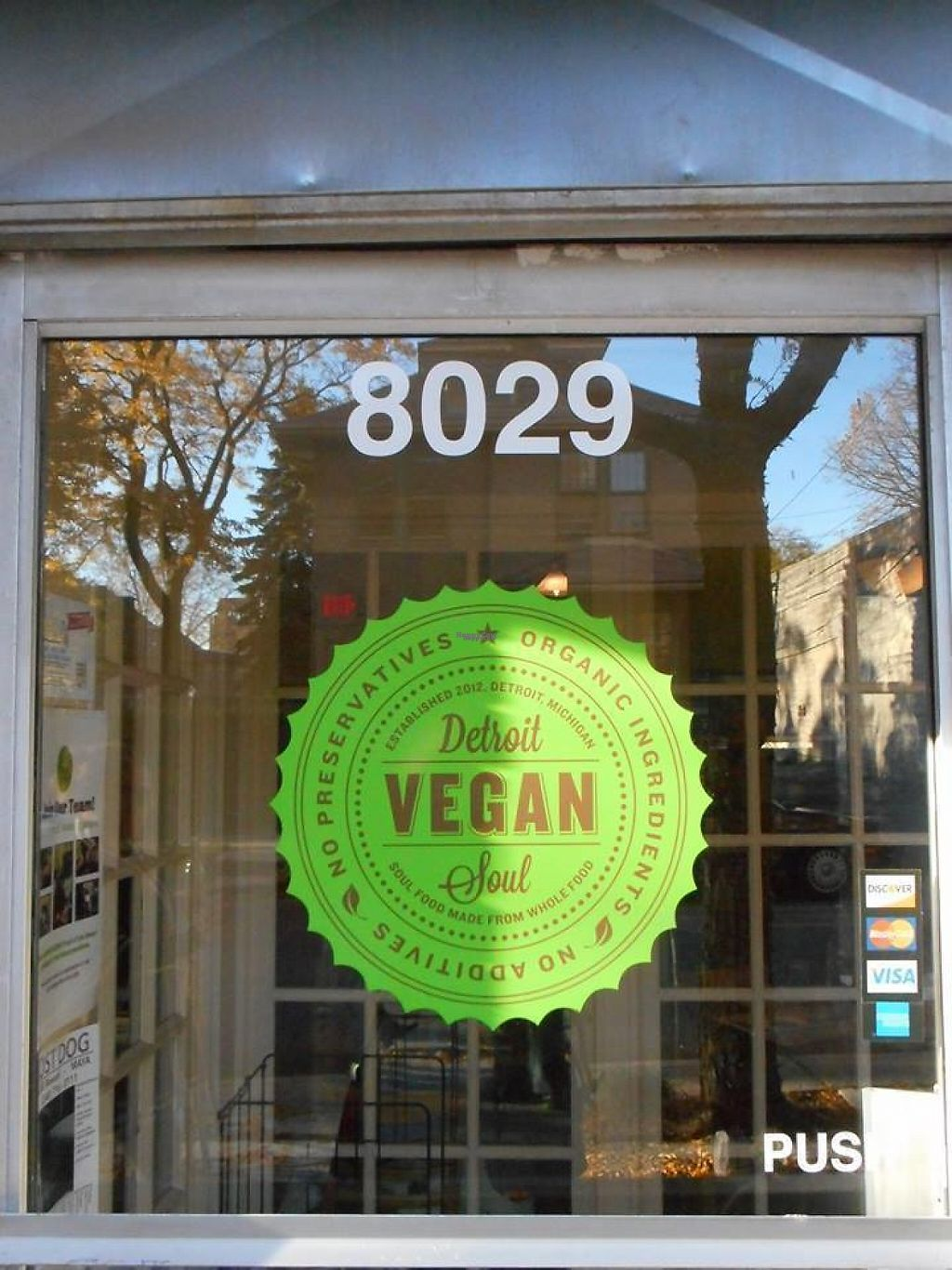 """Photo of Detroit Vegan Soul - East  by <a href=""""/members/profile/Mu"""">Mu</a> <br/>the door <br/> November 23, 2016  - <a href='/contact/abuse/image/32342/193616'>Report</a>"""