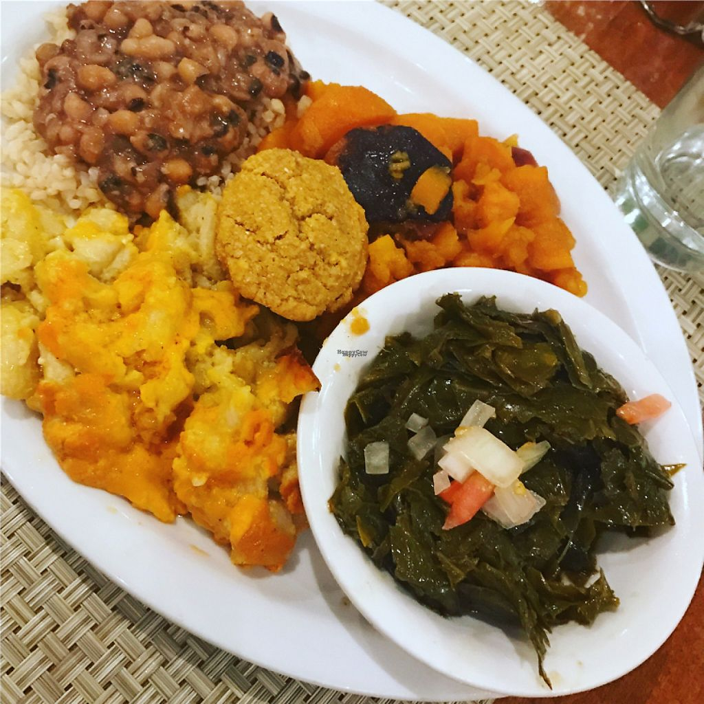 """Photo of Detroit Vegan Soul - East  by <a href=""""/members/profile/pinaclaudiaa"""">pinaclaudiaa</a> <br/>Soul plate <br/> November 27, 2016  - <a href='/contact/abuse/image/32342/194918'>Report</a>"""
