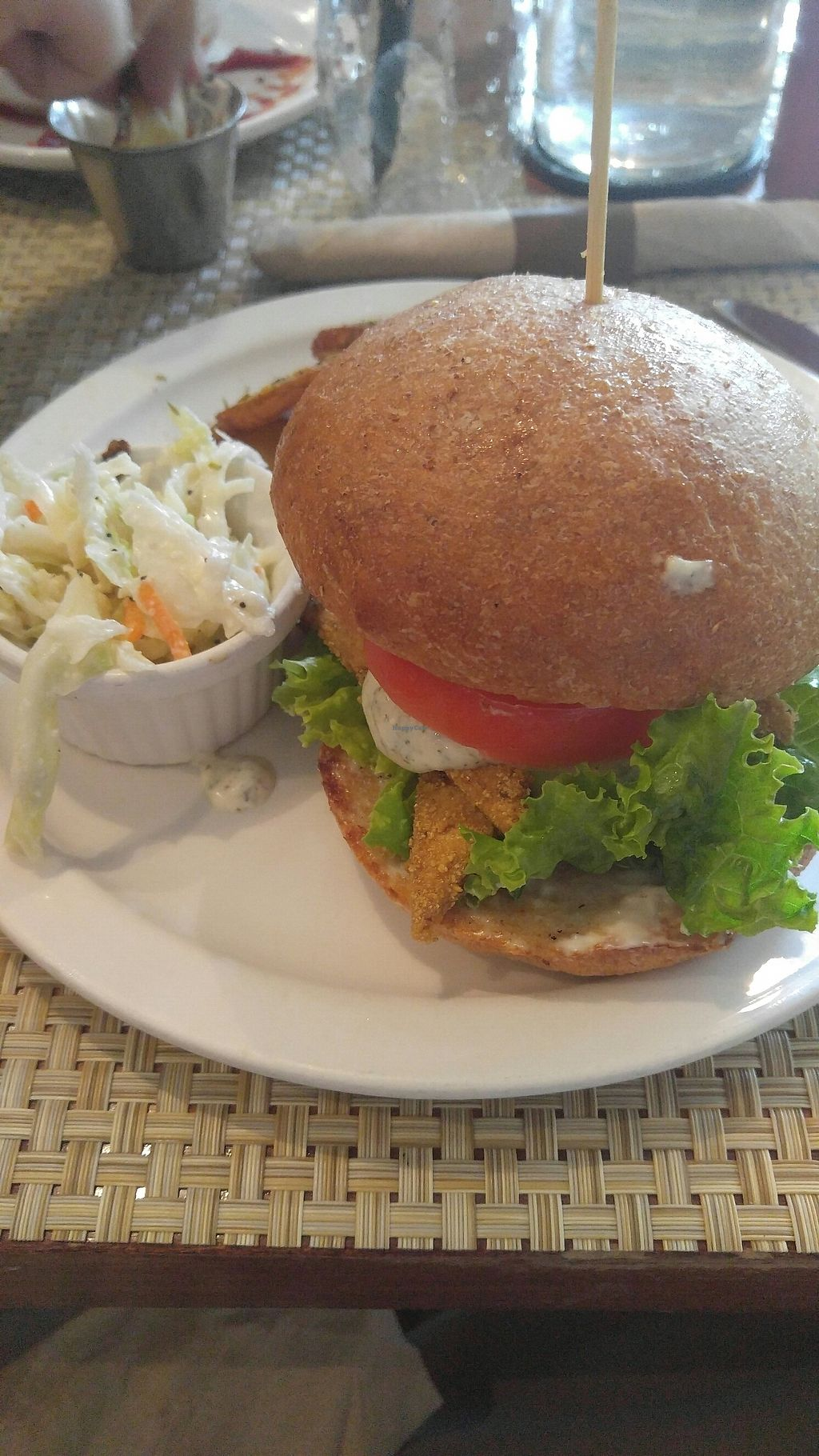 """Photo of Detroit Vegan Soul - East  by <a href=""""/members/profile/ColinKohair"""">ColinKohair</a> <br/>vegan catfish sandwich <br/> July 22, 2017  - <a href='/contact/abuse/image/32342/283381'>Report</a>"""