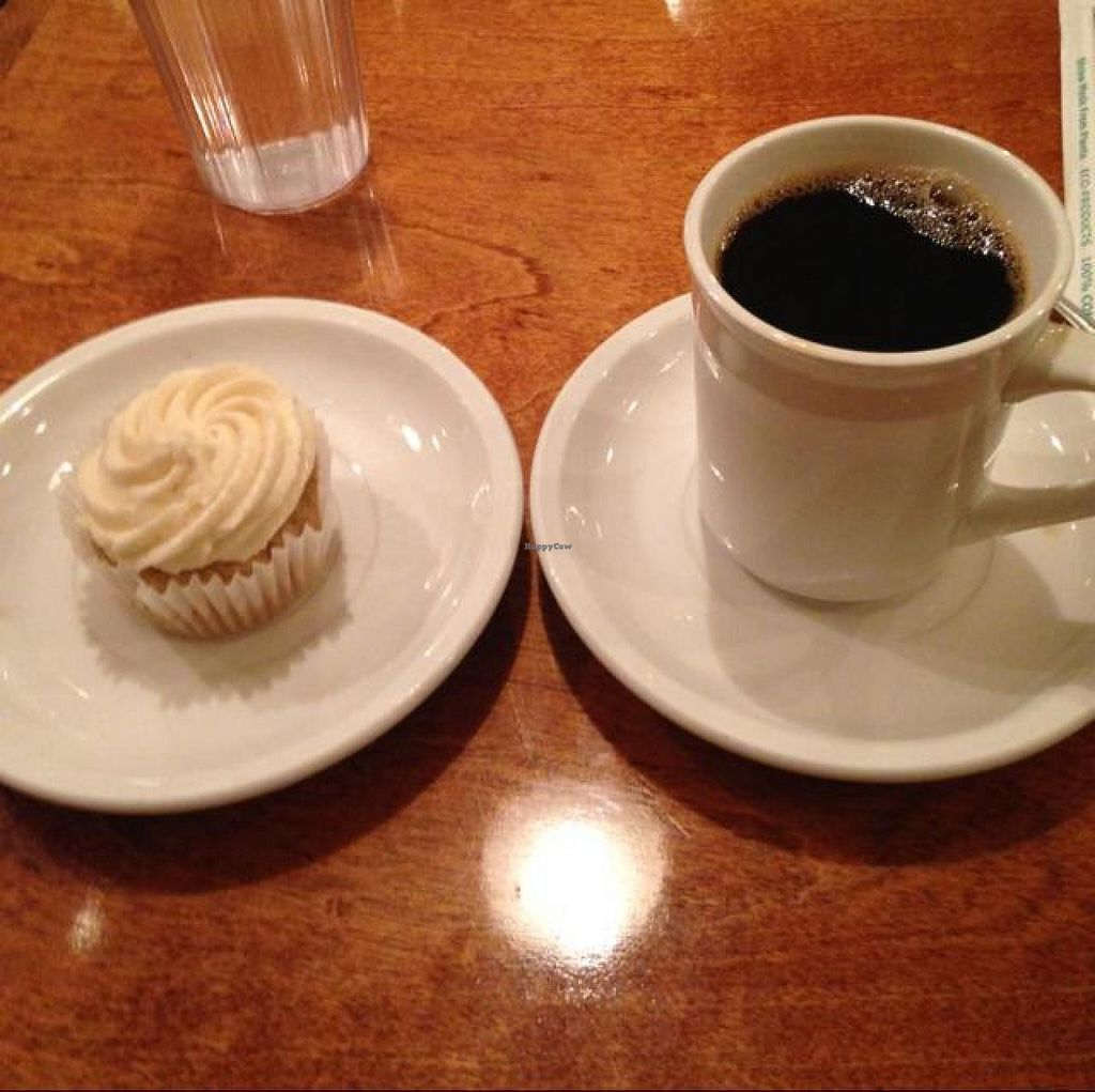 """Photo of Detroit Vegan Soul - East  by <a href=""""/members/profile/Mariarosekicks"""">Mariarosekicks</a> <br/>delicious gluten free cupcake! <br/> October 5, 2014  - <a href='/contact/abuse/image/32342/82202'>Report</a>"""
