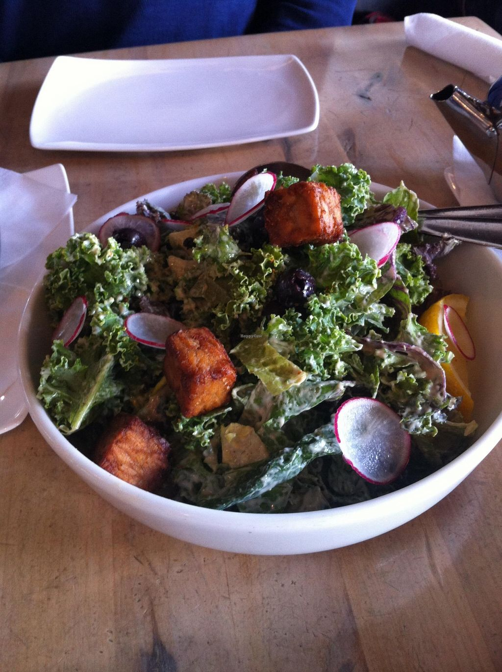 """Photo of The Acorn  by <a href=""""/members/profile/vegan%20frog"""">vegan frog</a> <br/>Vegan kale salad <br/> October 24, 2015  - <a href='/contact/abuse/image/32348/122537'>Report</a>"""