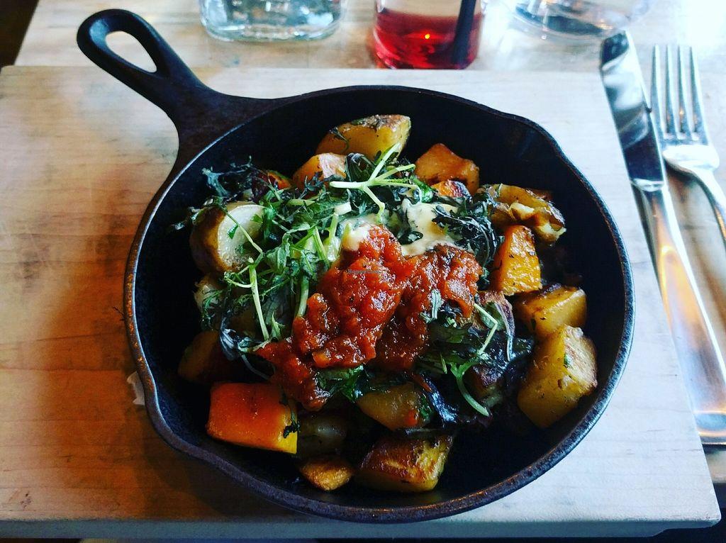 "Photo of The Acorn  by <a href=""/members/profile/MacGuru96"">MacGuru96</a> <br/>Skillet: Confit Potato, Autumn Vegetable Hash, Mustard Greens, Cashew + Squash Hollandaise, Tomato Jam <br/> December 8, 2015  - <a href='/contact/abuse/image/32348/127654'>Report</a>"