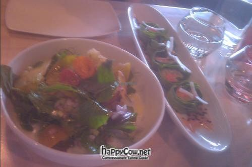 """Photo of The Acorn  by <a href=""""/members/profile/kimward8"""">kimward8</a> <br/>Tomato Salad and Collard Rolls <br/> July 25, 2012  - <a href='/contact/abuse/image/32348/35021'>Report</a>"""
