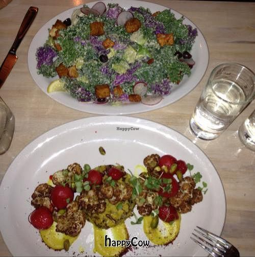 """Photo of The Acorn  by <a href=""""/members/profile/BradenPollock"""">BradenPollock</a> <br/>Large kale salad and Roasted radish entree <br/> June 15, 2013  - <a href='/contact/abuse/image/32348/49615'>Report</a>"""