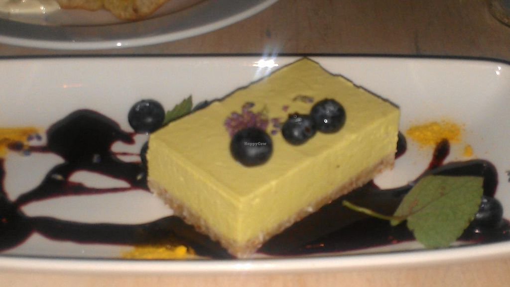 """Photo of The Acorn  by <a href=""""/members/profile/kenvegan"""">kenvegan</a> <br/>Vegan cheesecake <br/> August 10, 2014  - <a href='/contact/abuse/image/32348/76504'>Report</a>"""