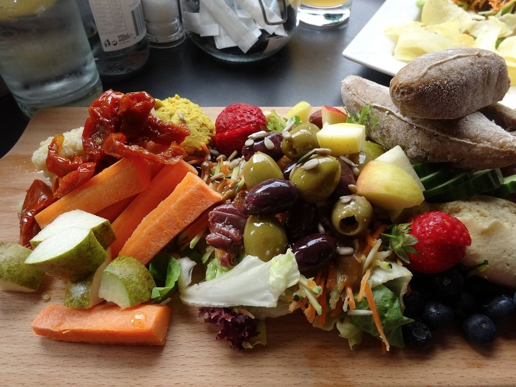 """Photo of Greens Cafe  by <a href=""""/members/profile/gins"""">gins</a> <br/>Green's vegan platter <br/> June 22, 2016  - <a href='/contact/abuse/image/32367/155470'>Report</a>"""