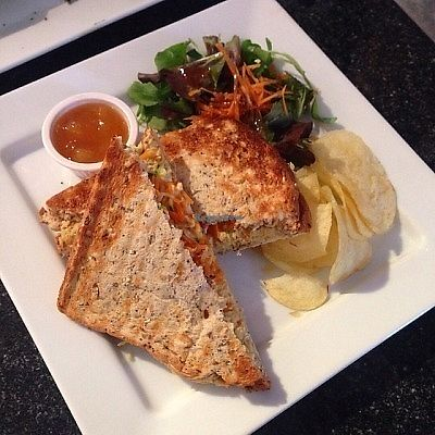"""Photo of Greens Cafe  by <a href=""""/members/profile/findingfay"""">findingfay</a> <br/>hummus toastie  <br/> August 29, 2017  - <a href='/contact/abuse/image/32367/298663'>Report</a>"""