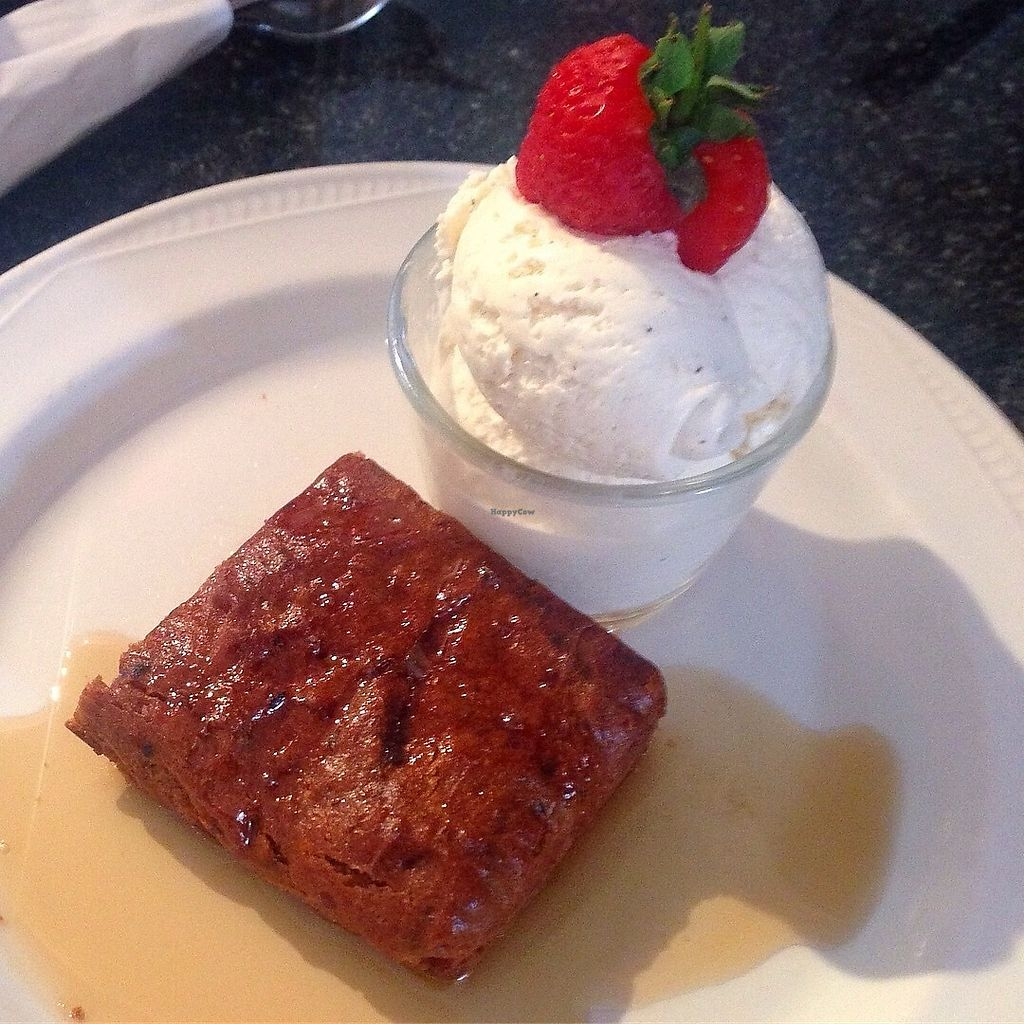 """Photo of Greens Cafe  by <a href=""""/members/profile/findingfay"""">findingfay</a> <br/>vegan sticky toffee pudding with swedish glace icecream <br/> August 29, 2017  - <a href='/contact/abuse/image/32367/298664'>Report</a>"""