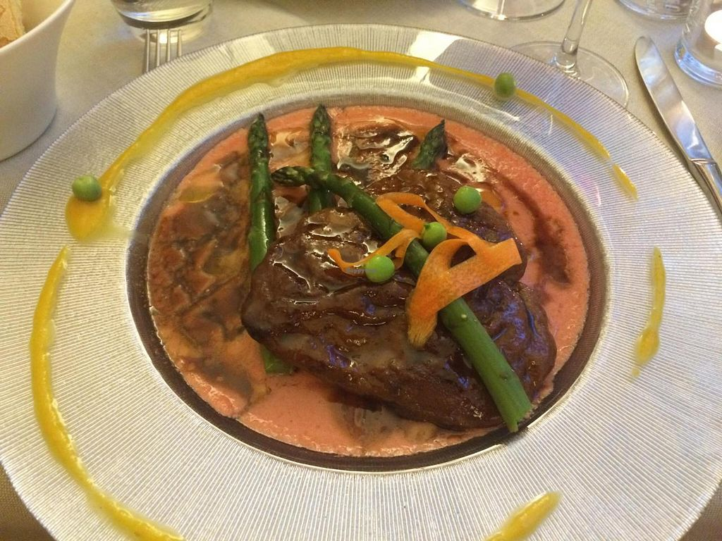 """Photo of Cuculia  by <a href=""""/members/profile/axis777"""">axis777</a> <br/>The best seitan I've ever had - in a vegan tamarind and carrot sauce at Cuculia <br/> June 7, 2014  - <a href='/contact/abuse/image/32374/71552'>Report</a>"""