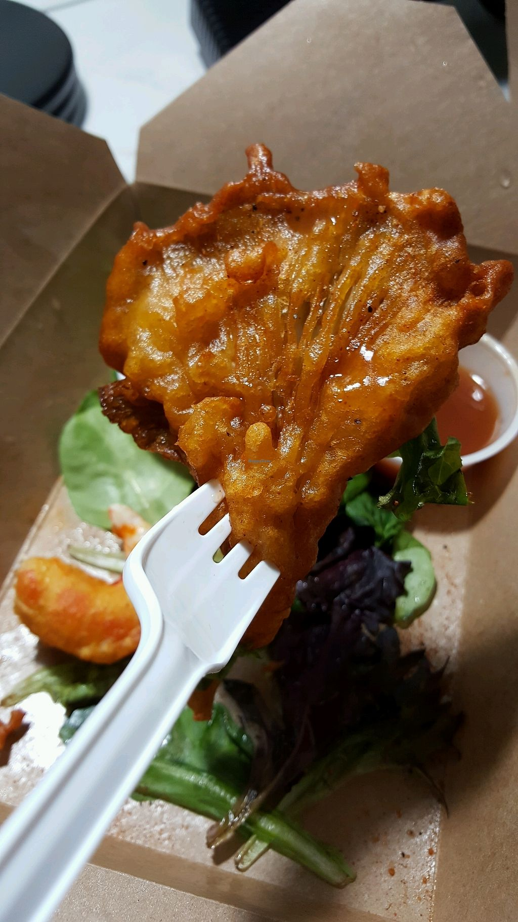 """Photo of Vegetarian Haven  by <a href=""""/members/profile/Brit87"""">Brit87</a> <br/>tempura oyster mushroom  <br/> February 1, 2018  - <a href='/contact/abuse/image/3237/353367'>Report</a>"""