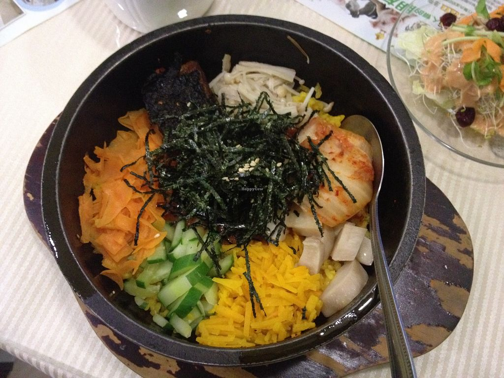 """Photo of Loving Hut - QingZhong St  by <a href=""""/members/profile/HollyCow"""">HollyCow</a> <br/>Bibimbap <br/> August 13, 2015  - <a href='/contact/abuse/image/32419/113410'>Report</a>"""