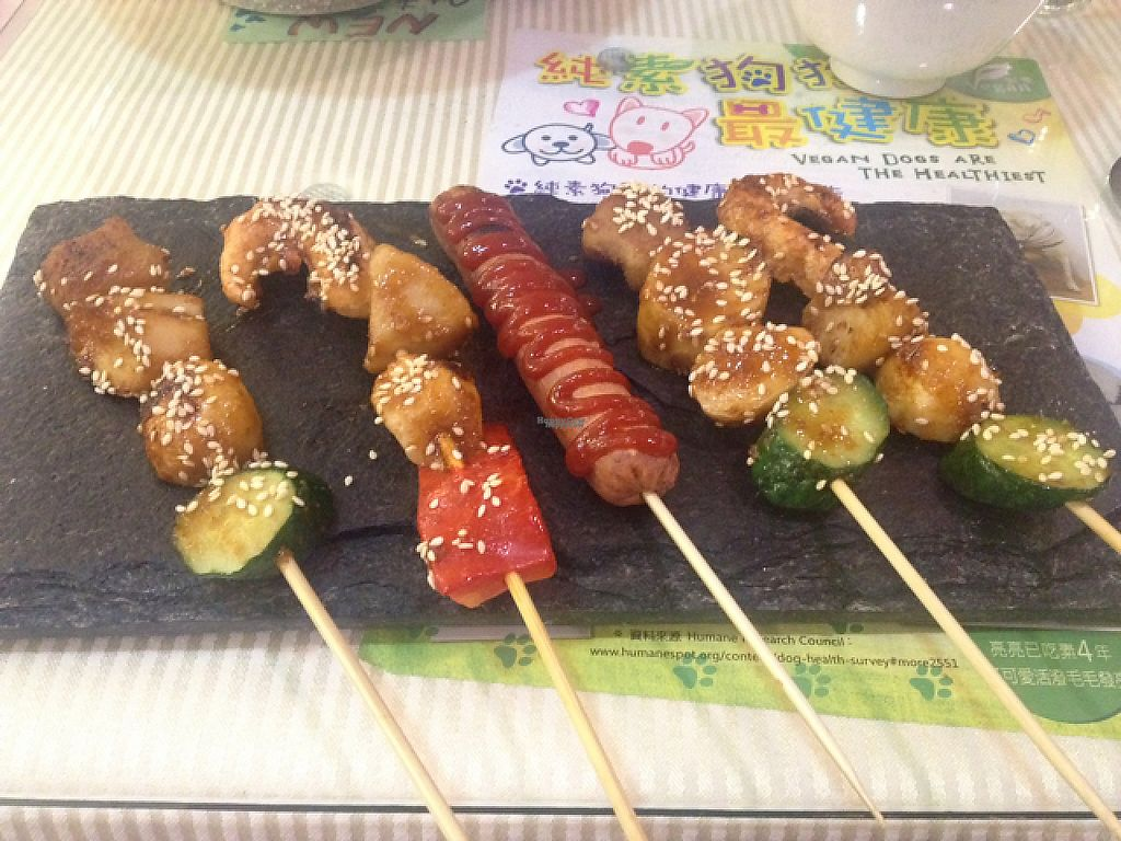 """Photo of Loving Hut - QingZhong St  by <a href=""""/members/profile/AndyCB"""">AndyCB</a> <br/>Delicious BBQ Skewers <br/> April 15, 2017  - <a href='/contact/abuse/image/32419/248325'>Report</a>"""