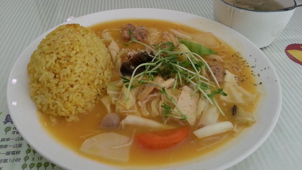 """Photo of Loving Hut - QingZhong St  by <a href=""""/members/profile/eric"""">eric</a> <br/>south eastern coconut pumpkin stew set <br/> October 11, 2014  - <a href='/contact/abuse/image/32419/82677'>Report</a>"""