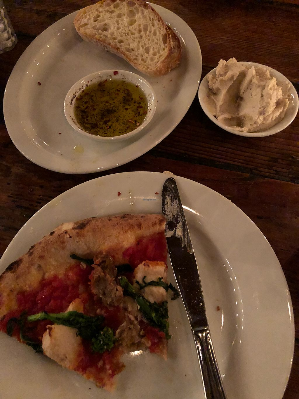 """Photo of Porta  by <a href=""""/members/profile/TracyV600"""">TracyV600</a> <br/>Snawzeech pizza and cashew ricotta with bread <br/> January 8, 2018  - <a href='/contact/abuse/image/32422/344512'>Report</a>"""