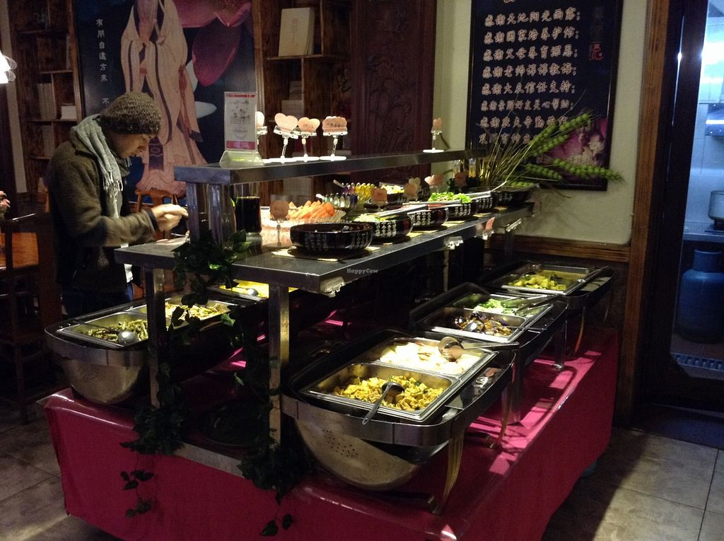 "Photo of Lovely Lotus Delicious Vegetarian - temporarily closed  by <a href=""/members/profile/eeyoresenigma"">eeyoresenigma</a> <br/>Buffet dishes setup. So many to choose from! <br/> October 13, 2015  - <a href='/contact/abuse/image/32442/121261'>Report</a>"