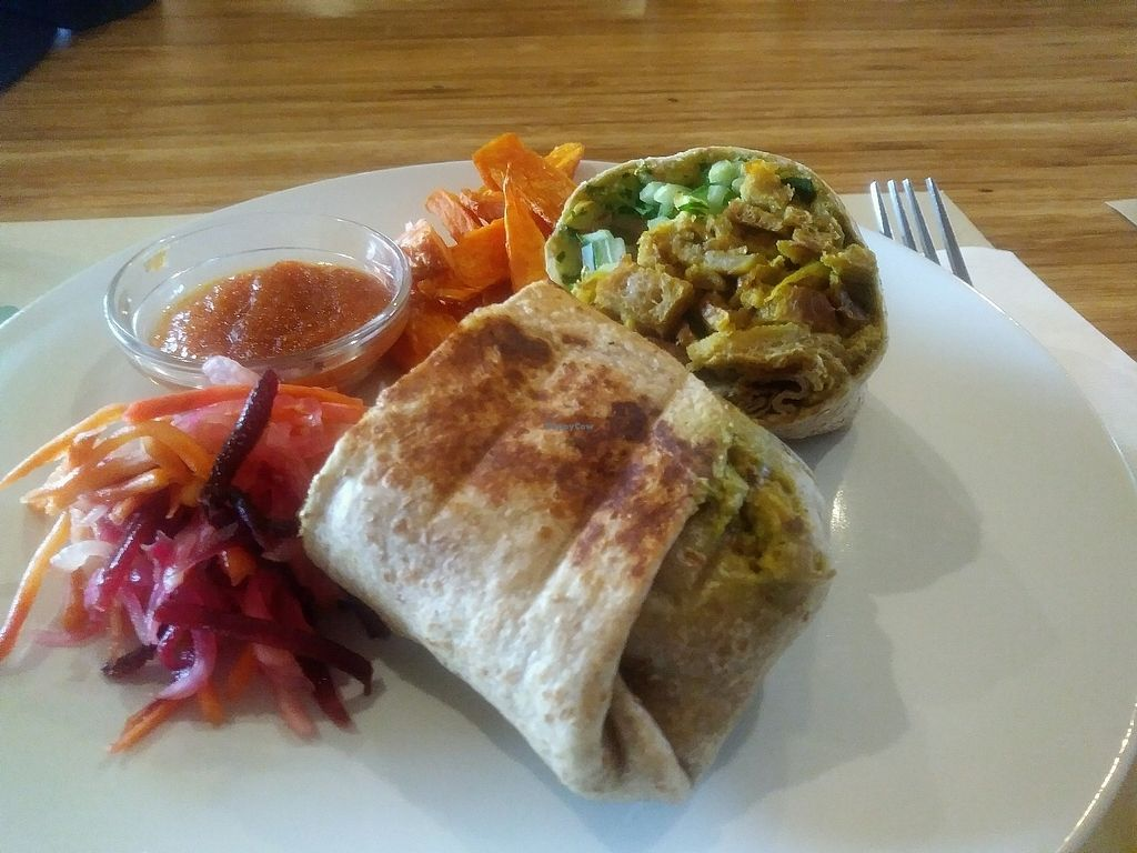 """Photo of Earth Cafe and Market - Ubud  by <a href=""""/members/profile/AaronMG"""">AaronMG</a> <br/>Jerusalem Burrito <br/> March 13, 2018  - <a href='/contact/abuse/image/32487/370118'>Report</a>"""