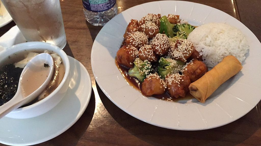 "Photo of Green Sprout  by <a href=""/members/profile/aborig.khalifa"">aborig.khalifa</a> <br/>seaweed soup, sesame ""chicken"" and broccoli, and spring roll <br/> August 28, 2017  - <a href='/contact/abuse/image/3248/298112'>Report</a>"
