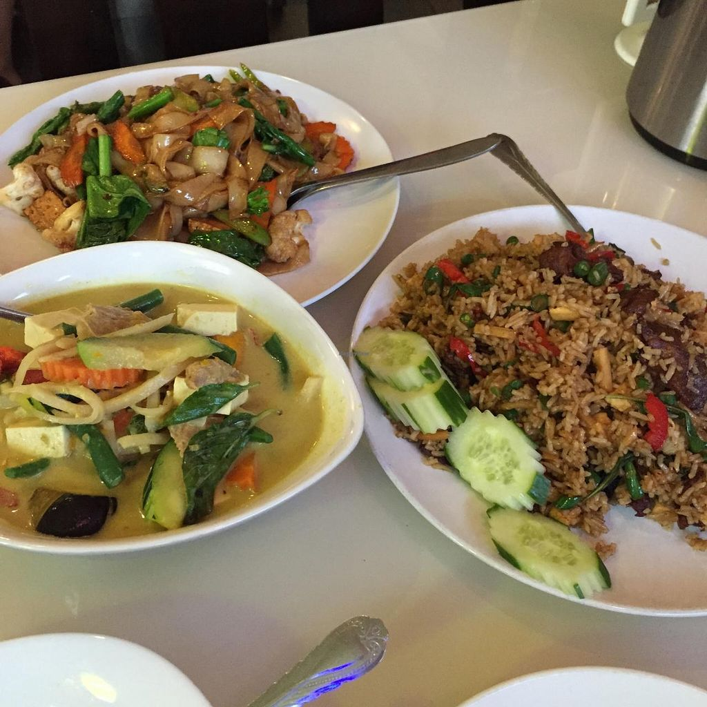 """Photo of Green Palace Thai Vegetarian  by <a href=""""/members/profile/MOJO%21"""">MOJO!</a> <br/>the spread at Green Palace Thai Cabramatta - a must visit for any vegan who loves Thai food.  <br/> January 24, 2015  - <a href='/contact/abuse/image/32508/91338'>Report</a>"""