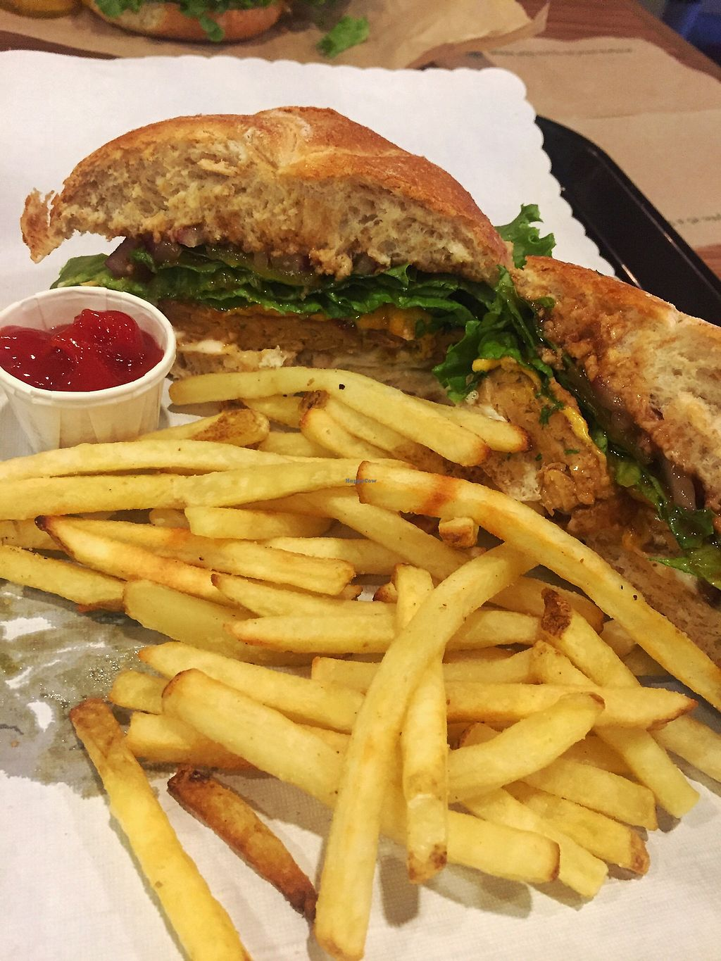 """Photo of Tera V Burger  by <a href=""""/members/profile/theresabee"""">theresabee</a> <br/>BBQ Tempeh Burger <br/> October 7, 2017  - <a href='/contact/abuse/image/32519/312538'>Report</a>"""