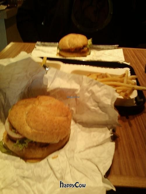 """Photo of Tera V Burger  by <a href=""""/members/profile/DollyWiggles"""">DollyWiggles</a> <br/>No bull burger and the fiesta tempeh burger :) <br/> September 3, 2012  - <a href='/contact/abuse/image/32519/37455'>Report</a>"""