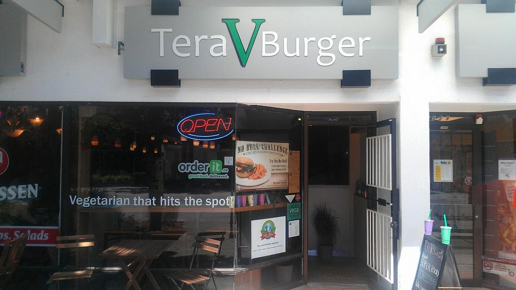 """Photo of Tera V Burger  by <a href=""""/members/profile/kenvegan"""">kenvegan</a> <br/>Outside Tera V Burger <br/> August 10, 2014  - <a href='/contact/abuse/image/32519/76564'>Report</a>"""