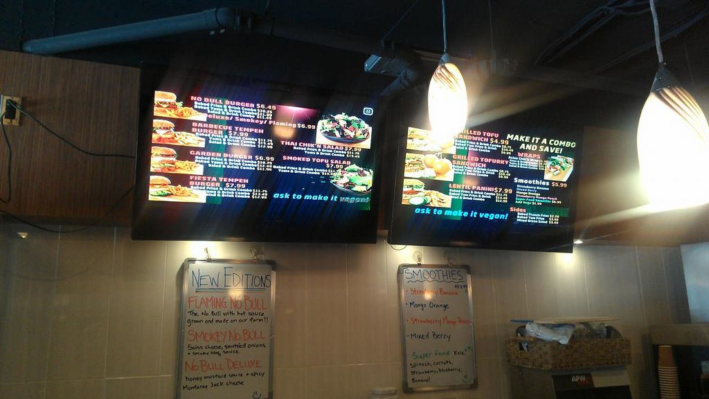 """Photo of Tera V Burger  by <a href=""""/members/profile/kenvegan"""">kenvegan</a> <br/>Tera V Burger Menu <br/> August 10, 2014  - <a href='/contact/abuse/image/32519/76566'>Report</a>"""