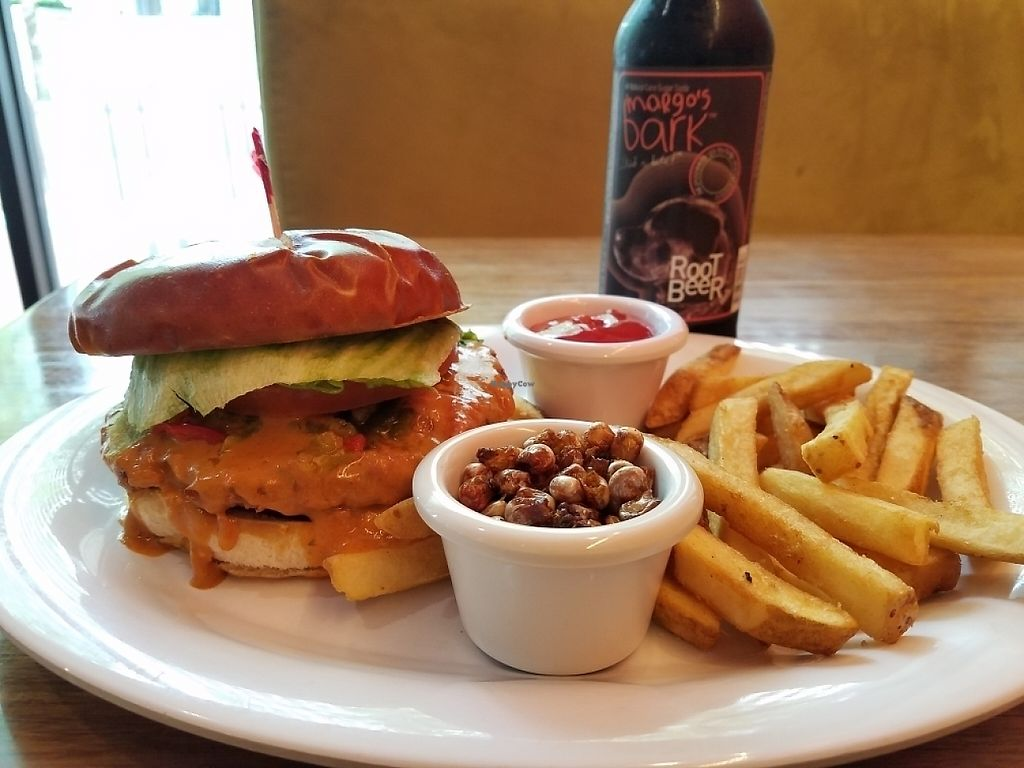 """Photo of Veggie Grill - Downtown Portland  by <a href=""""/members/profile/EverydayTastiness"""">EverydayTastiness</a> <br/>Richa burger <br/> May 15, 2017  - <a href='/contact/abuse/image/32544/259126'>Report</a>"""