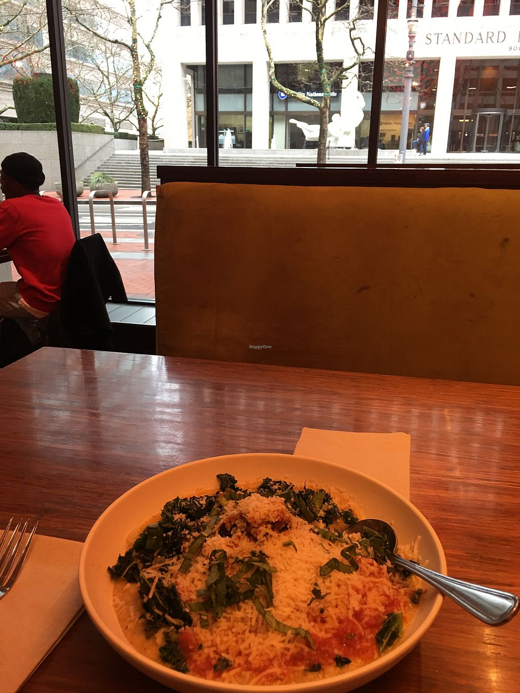 """Photo of Veggie Grill - Downtown Portland  by <a href=""""/members/profile/lvasquared"""">lvasquared</a> <br/>Meatballs and polenta  <br/> January 27, 2018  - <a href='/contact/abuse/image/32544/351652'>Report</a>"""