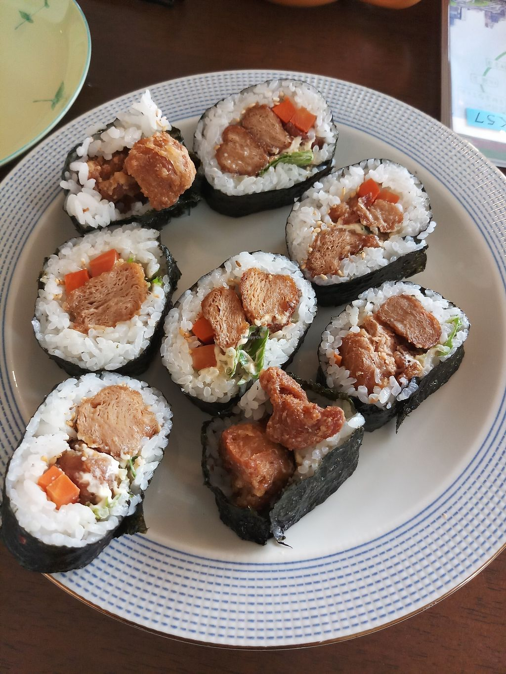 """Photo of CLOSED: Prunus  by <a href=""""/members/profile/MissEunice"""">MissEunice</a> <br/>Vegan sushi s with soy meat <br/> January 6, 2018  - <a href='/contact/abuse/image/32552/343652'>Report</a>"""