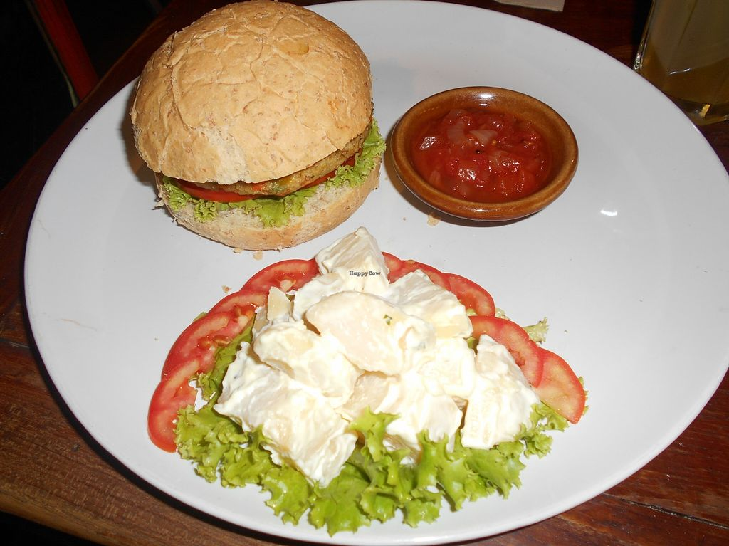 "Photo of Dada Kafe  by <a href=""/members/profile/Kelly%20Kelly"">Kelly Kelly</a> <br/>Dada Kafe, Chiang Mai 13, Veggie Burger with Potato Salad <br/> April 12, 2016  - <a href='/contact/abuse/image/32553/144215'>Report</a>"