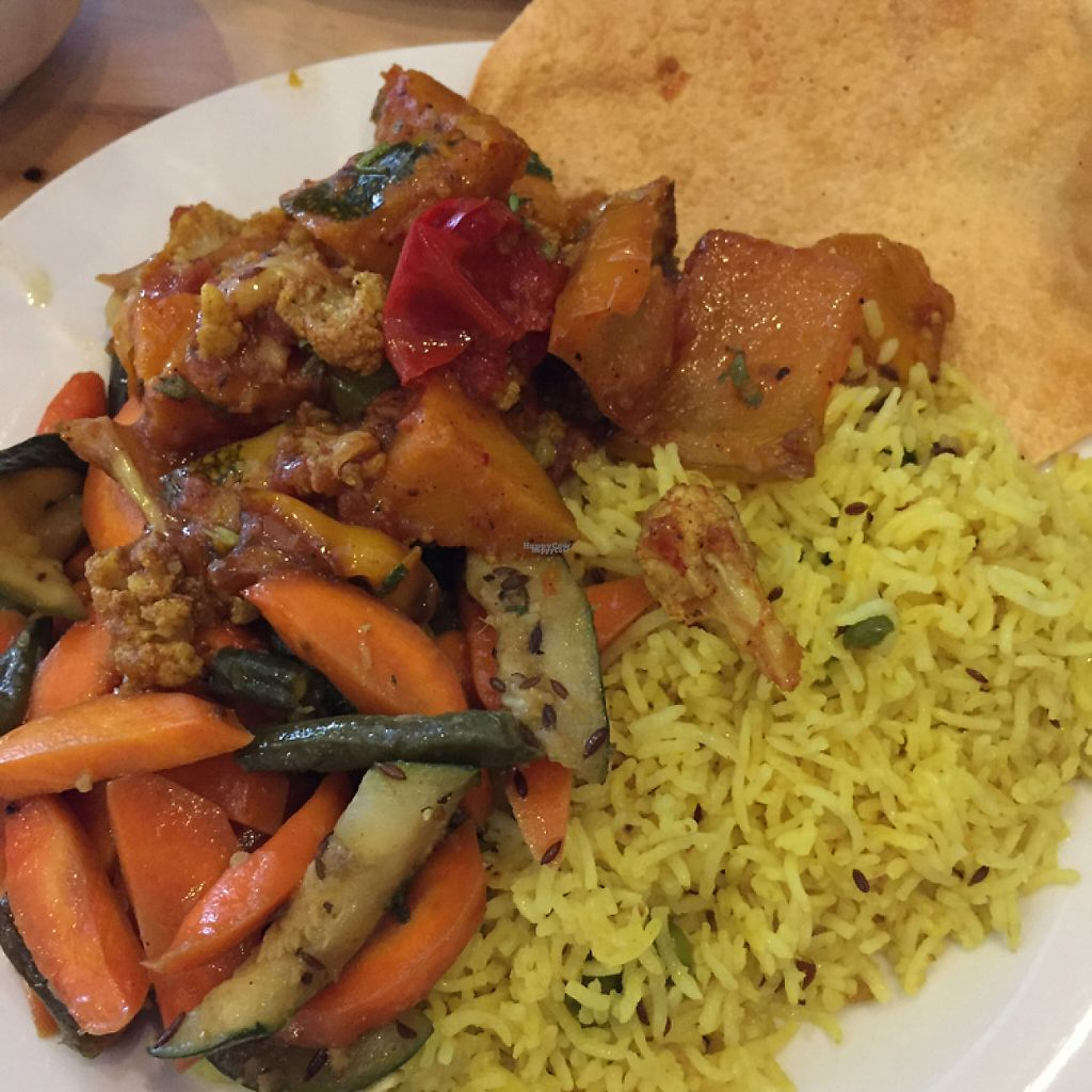 """Photo of Hari's Vegetarian  by <a href=""""/members/profile/leonardhall"""">leonardhall</a> <br/>3 choice with rice <br/> March 3, 2017  - <a href='/contact/abuse/image/32555/232056'>Report</a>"""