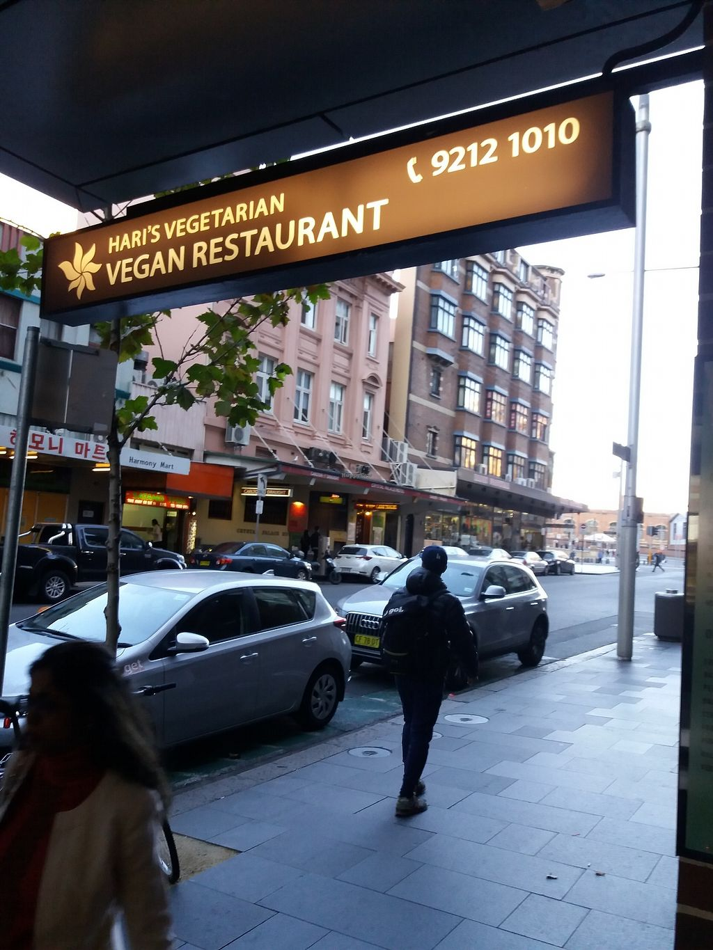 """Photo of Hari's Vegetarian  by <a href=""""/members/profile/veganvirtues"""">veganvirtues</a> <br/>Signage <br/> July 11, 2017  - <a href='/contact/abuse/image/32555/279000'>Report</a>"""